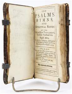 1725 Bay Psalm Book with Line of Descent