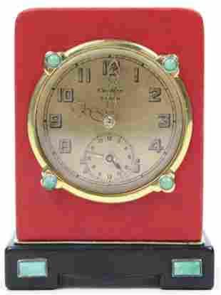 1940's Cartier Eight Day Desk Clock