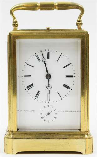 Kreitz Carriage Clock with Traveling Case