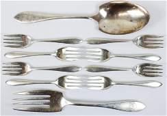10 pcs. Towle Lafayette Sterling Silver Flatware