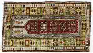 Early-Mid 20th c Persian Caucasian Prayer Rug