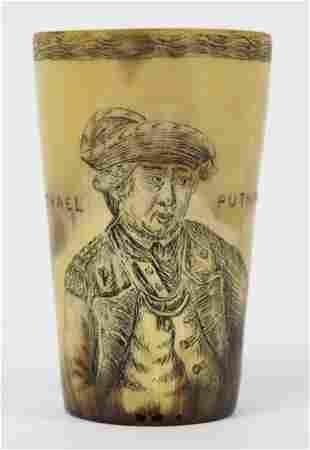 Israel Putnam Scrimshaw Horn Cup