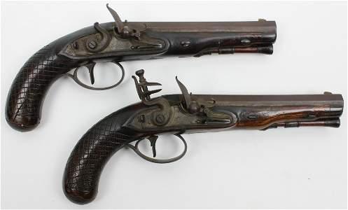 Pair of Durs Egg London Pistols