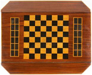 Inlaid Mahogany and Birdseye Maple Game Box