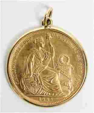 Peruvian Cincuenta Soles Oro Gold Coin