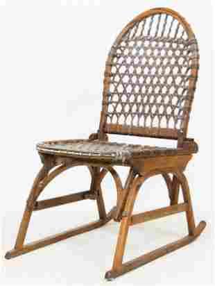 Vintage Tubbs Folding Sno-Shu Chair