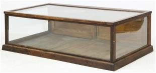 Countertop Display Case w/ Sliding Wood Panel Door