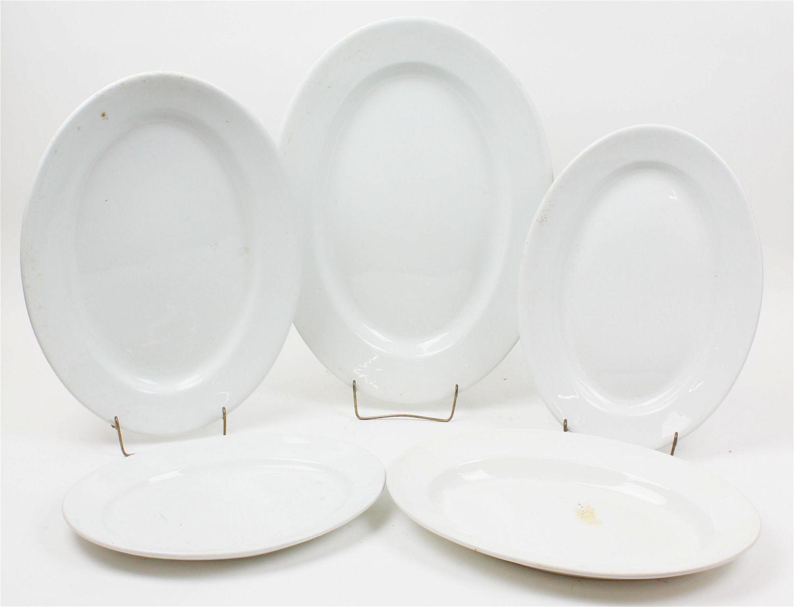 Nest of 5 English Ironstone Serving Platters