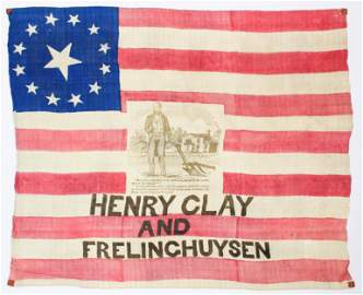 1844 Henry Clay Campaign Banner Flag