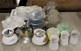 Group of Corningware and Kitchen Glassware