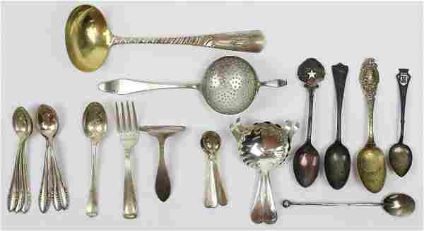 21 pcs. Sterling and Coin Silver Flatware