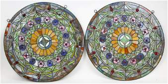 Victorian Style Stained Glass Window Panels
