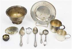 Group of Sterling Silver Hollowware and Flatware