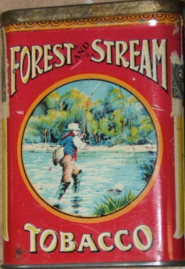 1: Forest and Stream fly fisherman pocket tobacco tin
