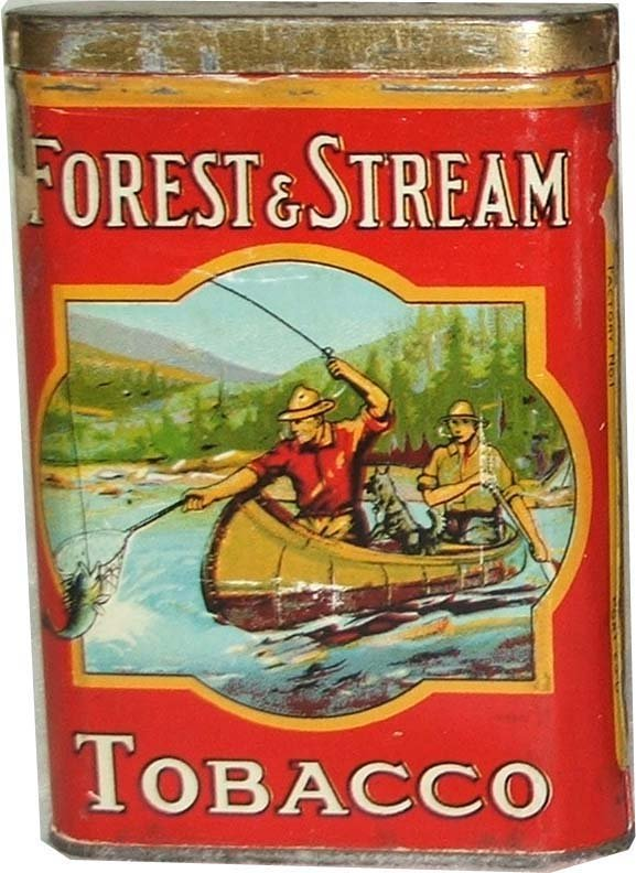 4: Forest and Stream canoe pocket tobacco tin