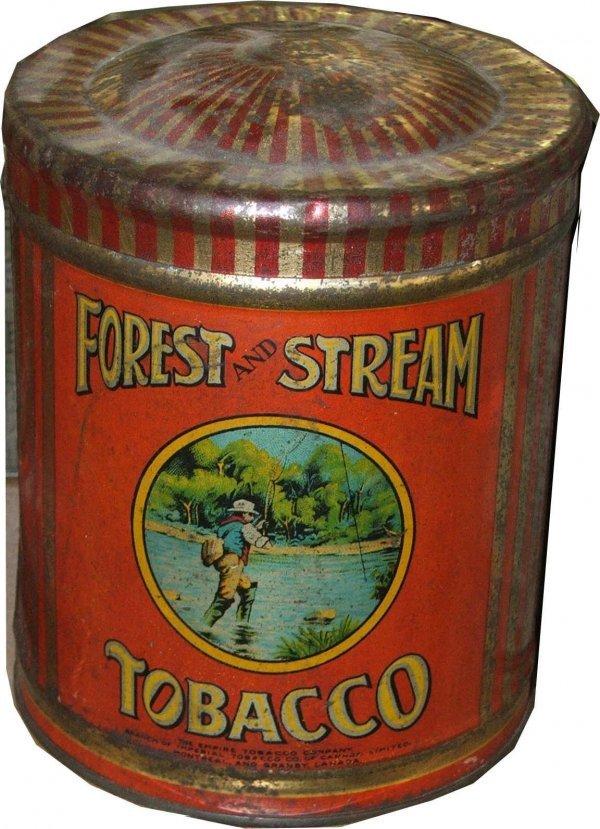 10: Forest & Stream round tobacco tin