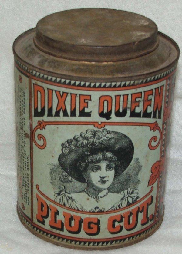 11: Dixie Queen round tobacco tin