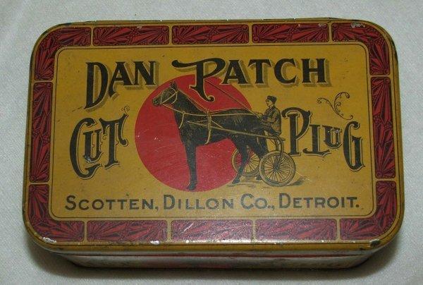 16: Dan Patch rectangular tobacco tin