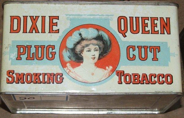 20: Dixie Queen lunch pail tobacco tin