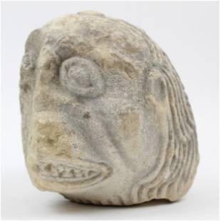 Medieval Stone Head from a French Church
