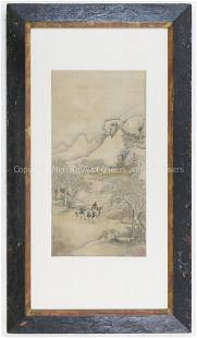 17th c Chinese Scroll Painting on Silk