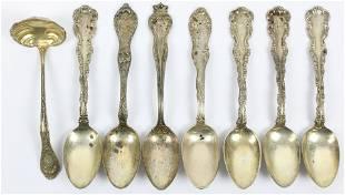 8 pcs. Victorian Sterling Silver Flatware