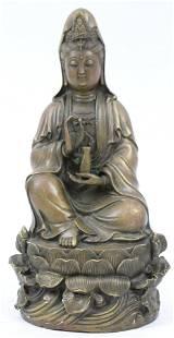 Chinese Bronze Bodhisattva Goddess