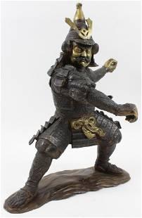 Japanese Bronze Samurai Warrior