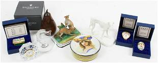 Group of Collectibles incl. Lalique, Halcyon Days