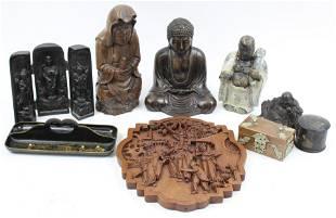 Asian Buddha's, Lacquerware, Resin