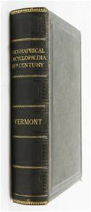 1885 Biographical Encyclopedia of Vermont