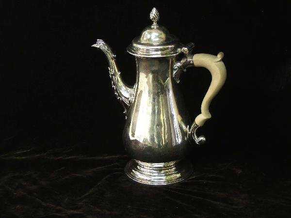 2: 10 inch sterling teapot made by Fras. Crump London 1