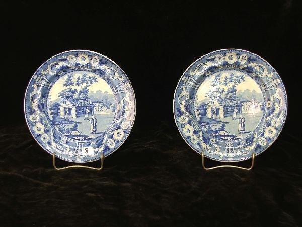 7: pair of Staffordshire Clala Kavak plates