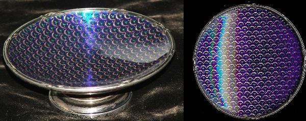 18: 3 1/4 in K Faberge sterling and enamel footed maste