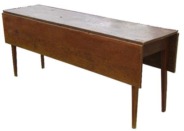20: Hepplewhite 6 foot pine harvest table in old red