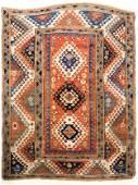 Antique Caucasian Borchalou Kazak Area Rug