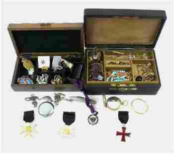 2 Victorian & Men's Jewelry boxes