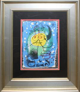 Joan Miro ( SP 1893-1983) Two Lithographs