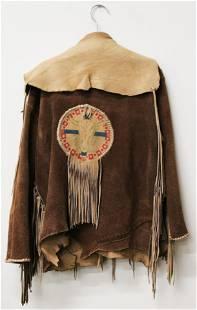 Hand-stitched Buckskin Leather Jacket