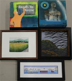 Five Small Works by Contemporary VT Artists