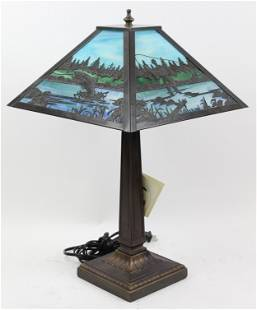 Meyda Tiffany Stained Glass Table Lamp