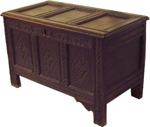 American oak  Pilgrim Century blanket box