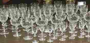53 48 piece Waterford cut crystal stemware service for