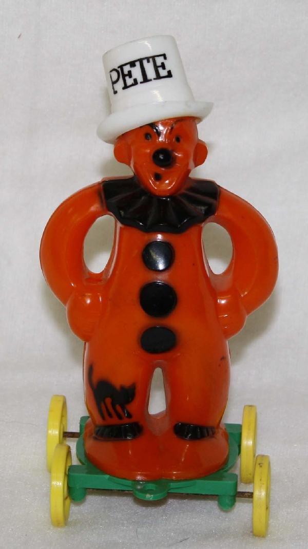 "5: Rosbro ""Pete"" Halloween clown on wheels figure"