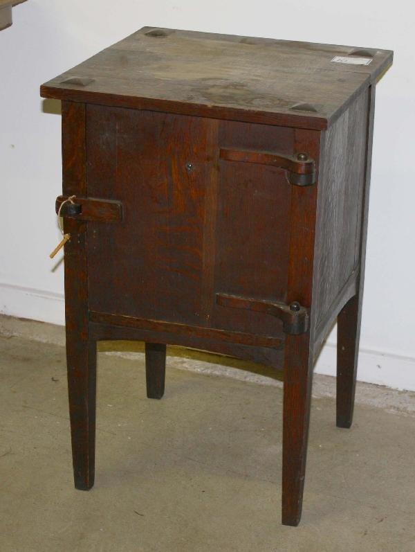 10: Arts and Crafts oak smoking stand