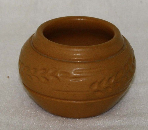 12: North Dakota School of Mines Pottery 3.5 inch incis