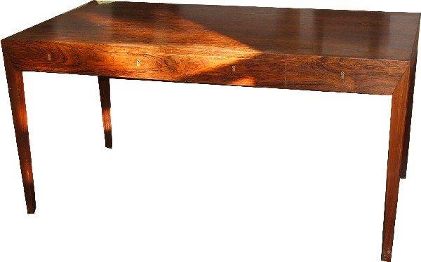 20: Danish rosewood desk 4.5 foot desk circa 1960