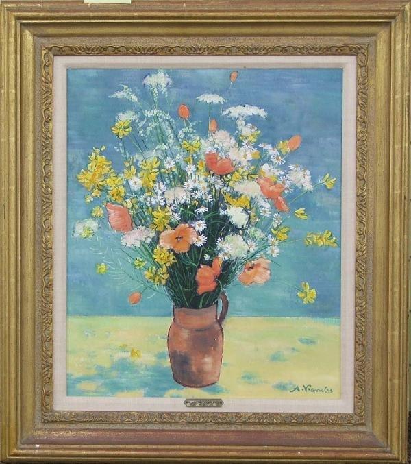 21: Andre Vignoles floral still life 21 x 17 inch AC