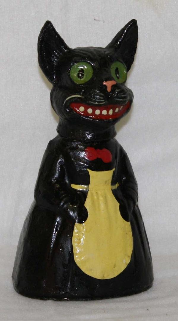 8 inch German  black cat Halloween candy container
