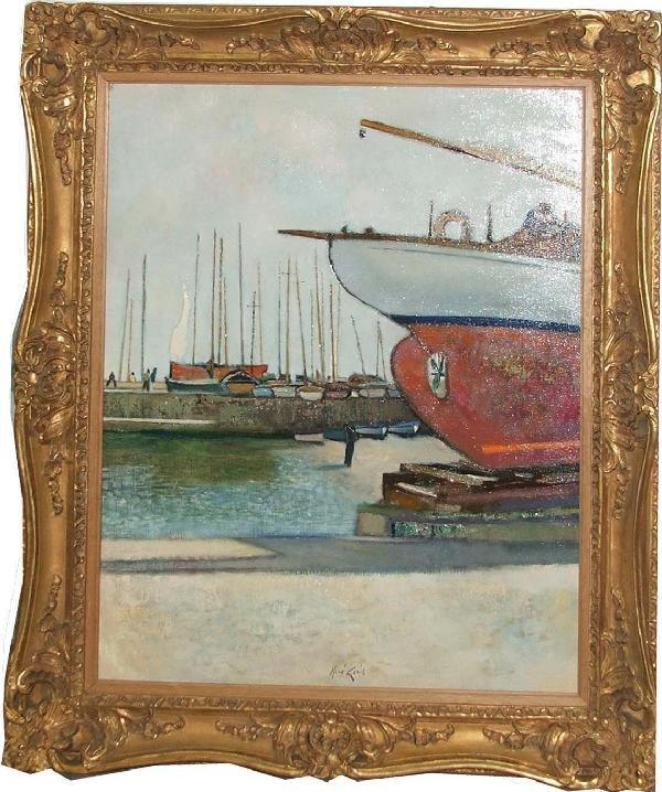 "26: Rene Genis (Fr 1922-) ""Le Coque Rogue"" 25 x 32 OC s"